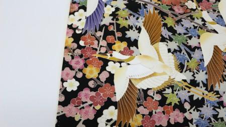鶴の柄の変色がきれいになりました。